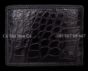 Bóp nam cá sấu Hoa Cà da trơn - D1169