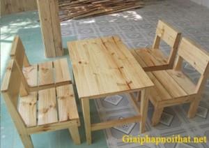 Bàn ghế gỗ phòng trà sữa n giá rẻ