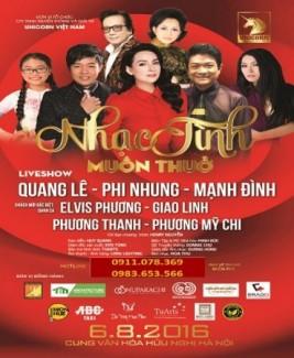 Bán vé Liveshow Quang Lê, Phi Nhung, Mạnh Đình