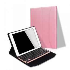 Bàn phím bluetooth bao da giá đỡ iPad Pro 9.7-Hồng