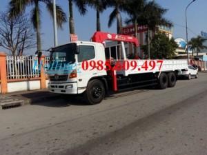 Bán xe tải cẩu Hino FL8JTSL gắn cẩu Unic 5 tấn 2016