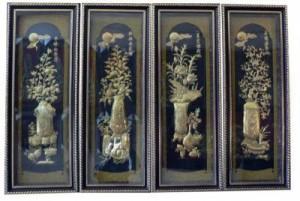 Đó là Tiền Chu tước, Hậu Huyền Vũ, Tả Thanh Long, Hữu Bạch Hổ. Tức phía trước là Phượng đỏ, sau lưng là Rùa đen, bên trái là Rồng Xanh và bên phải là Hổ trắng tượng trưng cho 4 mặt bảo vệ toà nhà.