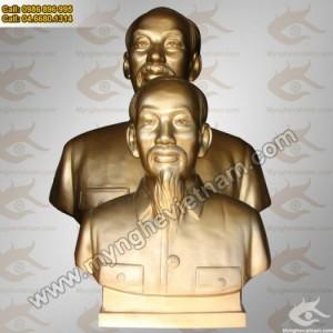 Tượng Bác Hồ bằng đồng, Tượng đồng chân dung bán thân