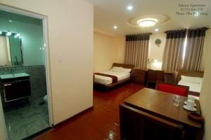 Phòng đầy đủ tiện nghi tại SAKURA BUILDING quận Tân Bình