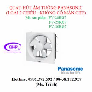 Quạt hút âm tường 2 chiều không màn che Panasonic FV-20RG7
