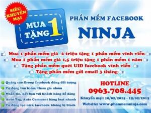 Facebook Ninja- Phần mềm quảng cáo bán hàng Facebook miễn phí số 1