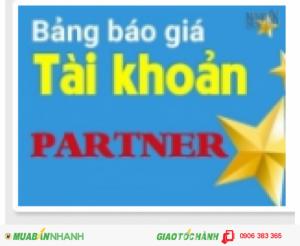 XIN GIỚI THIỆU TÀI KHOẢN PARTNER CỦA MUABANNHANH.COM