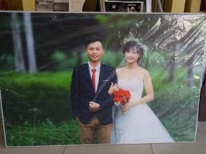 Tranh cưới 3D sáng tạo dành cho ngày đặc biệt của bạn
