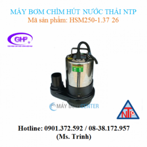 Máy bơm chìm hút nước thải NTP HSM250-1.37 26...