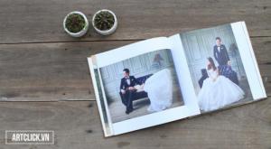 Photobook - Nơi lưu giữ thời gian - Size 15x15 cm, loại 40 tờ