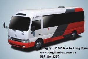 Xe khách 25-29 chỗ Hyundai county, Hyundai tracomeco,  Hyundai đô thành, Hyundai Đồng vàng, Samco, thaco 2016