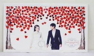 Tranh ký tên 3D độc đáo - cho ngày cưới thêm...
