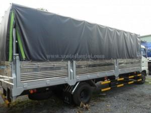 Bán xe tải hino FC9JJSW 6T4 đóng thùng bạt hạ tải còn 5.9 tấn = HINO FC9JJSW 6T4/ 5T9 thùng bạt