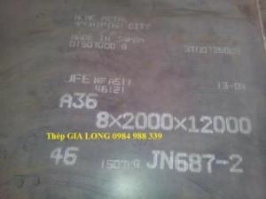 Thép tấm A36 dày 11ly x 2000 x 12000 mm