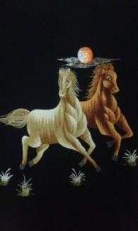 Bức Ngựa Hai Con