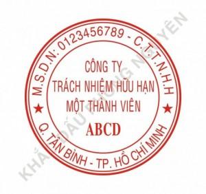 Khắc dấu tròng công ty, khắc dấu tên giá rẻ 40.000
