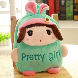 Balo vải nhung hình búp bê cho bé nhập khẩu Hàn Quốc