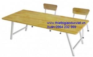 Công ty thiết bị giá dục việt chuyên sản xuất và nhập khẫu bàn ghế mầm non. Ghế mầm non làm từ nhựa đúc, có hai kích thước dành cho nhóm trẻ Cao 26cm , dành cho lớp chồi và lớp lá là 28cm Bàn cao 48cm và 52cm Thông thồng ghế mầm non có 4 màu chủ đạo: Đỏ, vàng, xanh lá, xanh dương Bàn mầm non được làm từ nhựa cao cấp PP có kích thước dài 120cm rộng 60cm cao 50cm, Cũng có 4 màu chủ đạo là : Đỏ, vàng, xanh lá, xanh dương,