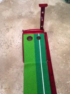 Thảm gạt golf mini, putting green gỗ, thảm tập gạt bóng golf