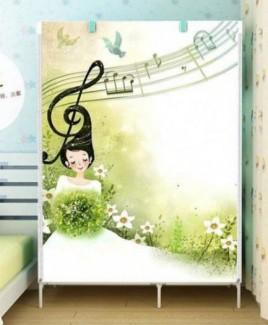 Xả hàng Tủ vải 3D 2 buồng 6 ngăn hình nốt nhạc