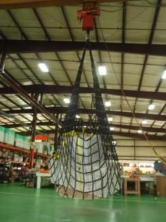 Lưới cẩu hàng, lưới bao hàng cho container, lưới dù an toàn dùng cẩu hàng hóa toàn quốc
