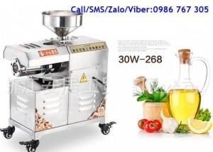 Máy ép dầu thực vật 30W-268 Năng suất: 10kg/h
