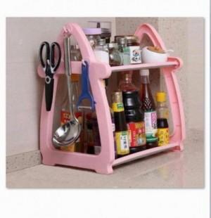 Giá sốc Kệ để đồ nhà bếp đa năng chữ A màu hồng