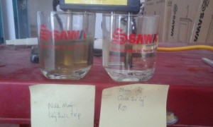 thí nghiệm nước
