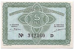 5 Piastres 1942-1945