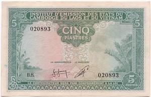 5 Piastres 1953