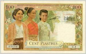 100 Piastres 1954