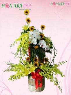 Giỏ hoa độc đáo mừng sinh nhật - GSN018