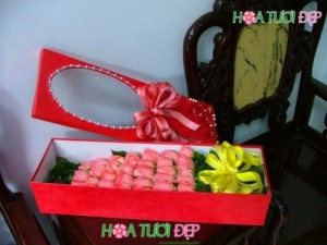 Hoa mừng sinh nhật - Sắc môi em hồng HSN044