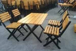 Bàn ghế gỗ trực tiếp sản xuất giá rẻ