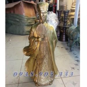 Tượng Khổng Minh cao 50cm, tượng đồng Gia Cát...