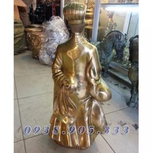 Tượng Khổng Minh cao 50cm, tượng đồng Gia Cát Lượng phong thủy