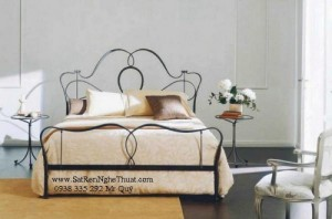Giường sắt rèn nghệ thuật cao cấp