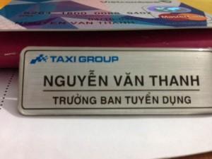 Trưởng ban Tuyển dụng Taxi Group: Nguyễn Văn Thanh