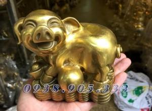 Tượng heo đồng phong thủy ngồi tiền,bộ quà tặng 12 con giáp giá rẻ tại Sài Gòn