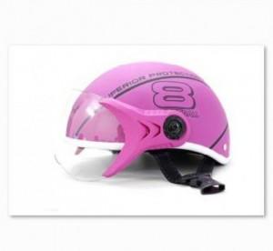 Mũ bảo hiểm Sport Superior có kính màu hồng