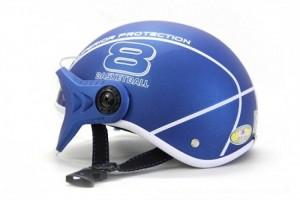 Mũ bảo hiểm Sport Superior có kính màu xanh tím than