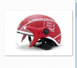 Mũ bảo hiểm Sport Superior có kính màu đỏ