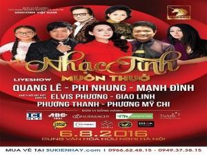 Bán vé Liveshow nhạc tình muôn thuở: Quang Lê, Phi Nhung, Mạnh Đình & Phương Mỹ Chi