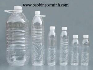 Chai nhựa nước suối, chai nhựa pet 330ml, 500ml