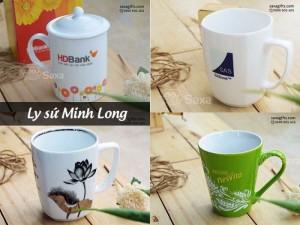 Ly sứ quà tặng - Ly sứ Minh Long