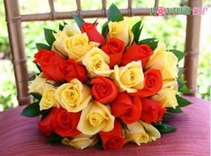 Mẫu hoa cưới đẹp sang trọng - HC010