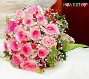 Xu hướng hoa cưới cầm tay cô dâu đẹp - HC011