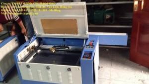 Máy cắt laser 6040 nhập khẩu, máy laser khắc da, khắc dấu cao su