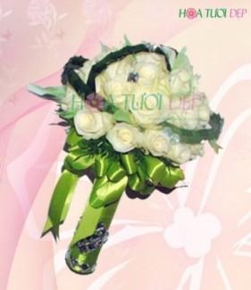 Hoa cưới cầm tay đẹp mới lạ - HC036