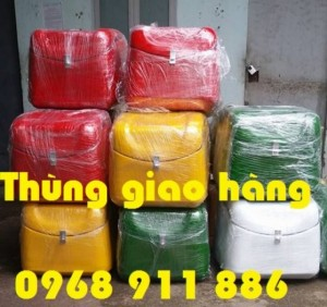 Phân phối thùng chở hàng nhanh, thùng giao bánh kẹo, thùng giao trà sữa